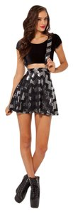 Black Milk Clothing Suspenders Mini Skirt Silver