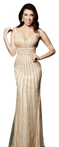 Milano Formals Bling Straps Form Fitting Dress