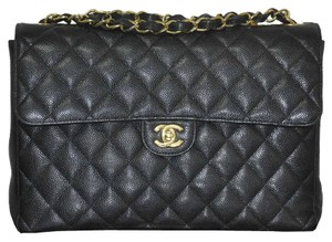 Chanel Jumbo Single Flap Caviar Shoulder Bag