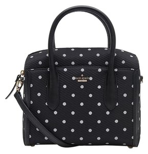 Kate Spade #polyester Satchel in black & white
