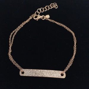 Gold and Diamond Two Chain Bracelet
