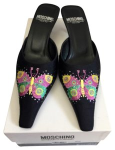 Moschino Black silk Mules