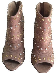 bebe ~New Tan suede with gold and silver studs Boots