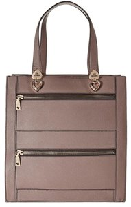 Moschino Leather Love Classic Tote in taupe