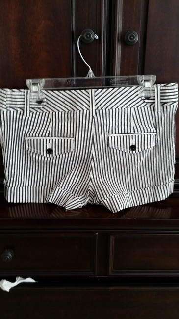 Express Mini/Short Shorts White with black stripes