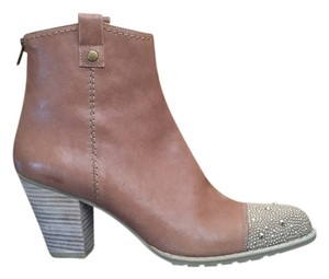 Stuart Weitzman Nubuck Leather Studded brown Boots