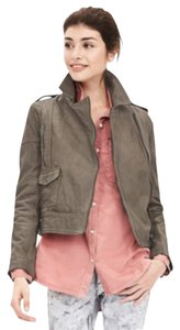 Banana Republic Grey Leather Jacket