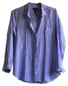 J.Crew Button Down Shirt Blue stripe