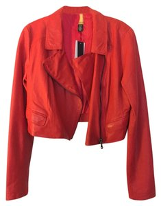 Kenneth Cole Leather red Jacket
