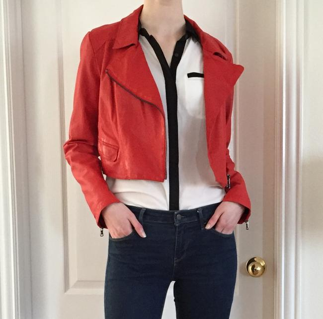 Kenneth Cole Red Moto Jacket Size 8 (M) Kenneth Cole Red Moto Jacket Size 8 (M) Image 2