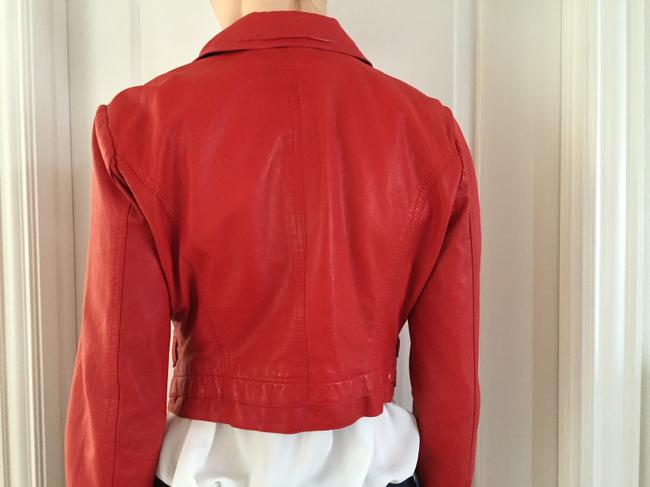 Kenneth Cole Red Moto Jacket Size 8 (M) Kenneth Cole Red Moto Jacket Size 8 (M) Image 5