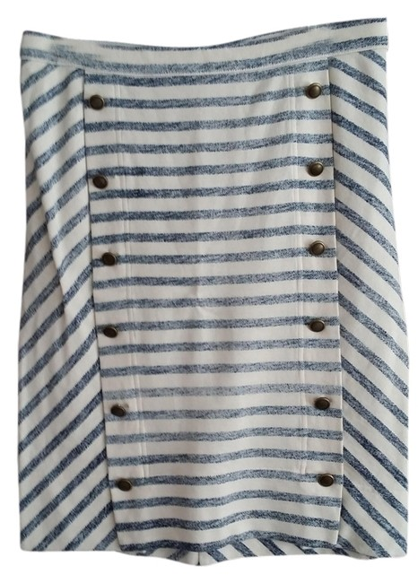 Marc by Marc Jacobs Skirt cream with navy stripes