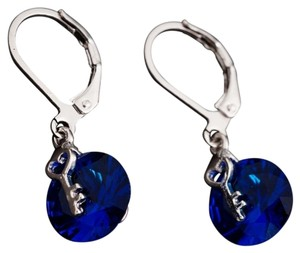 Other New 14K White Gold Filled Crystal Dangle Earrings Key J2019