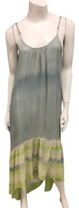 Grey/Lime Maxi Dress by Gypsy05 Silk Maxi Tiedye