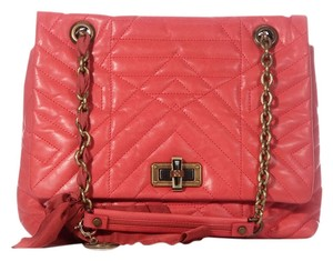 Lanvin Ln.k0119.03 Salmon Quilted Leather Pink Satchel