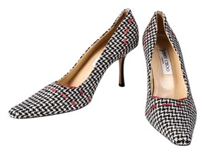 Jimmy Choo Houndstooth Black Black/White Pumps