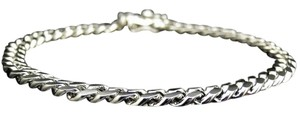 Mens Platinum Sterling Silver Mm Miami Cuban Chain Grams