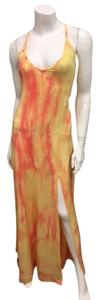 Citrus Maxi Dress by Gypsy05 Side Slit Maxi Tie Dye