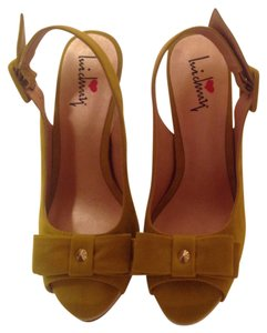 Luichiny Platform Chartreuse Wedges