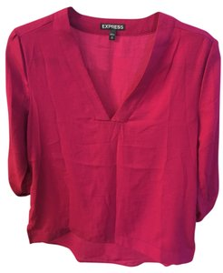 Express Quarter-sleeve Top Red