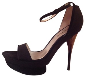Bebe Suede Black Platforms
