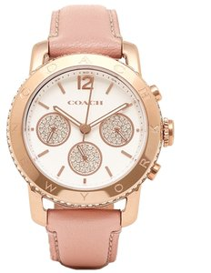 Coach Coach Legacy 14501974 Pink Leather Rose Gold Chronograph Watch