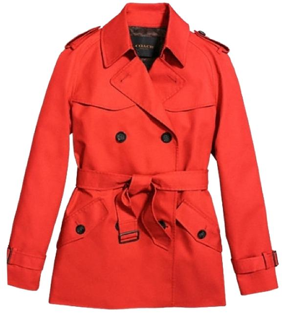 Item - Persimmon Solid Short Trench Coat Jacket Size 6 (S)