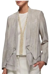 Brunello Cucinelli GREY Leather Jacket