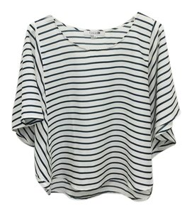 Forever 21 Top Blue and white