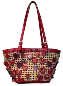 Brighton Tote in Rattan And Red