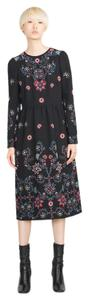 Zara short dress Black Embroidered Floral on Tradesy