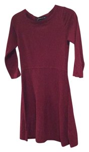 French Connection short dress Burgandy on Tradesy