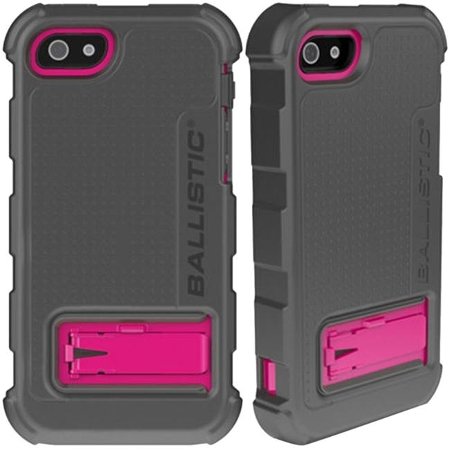 Item - Black/Pink/Grey Iphone 5/5s Hard Core Protective Case Plus Rugged Swivel Holster Clip Tech Accessory