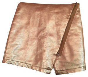 Lovers + Friends Mini Skirt Gold