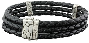 John Hardy 925 Sterling Silver hardware w/ Braided Leather band