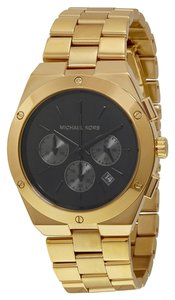 Michael Kors Gold tone and Black Dial Stainless Steel Designer Watch