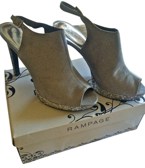 Rampage High Heal Never Worn Silver Sandals