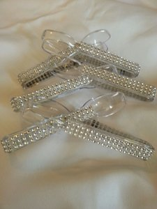 6 Bling Candy Buffet Tongs Silver