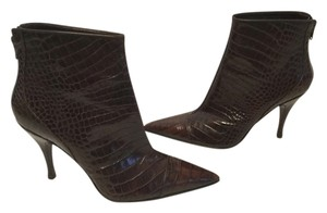 Via Spiga Brown embossed all leather Italian ankle Boots