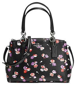 Coach F37421 Wildflower Carryall Satchel in SILVER/BLACK MULTI