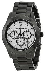 a92572ae7d949 Michael Kors White Dial Black Ion Plated Casual Mens Watch