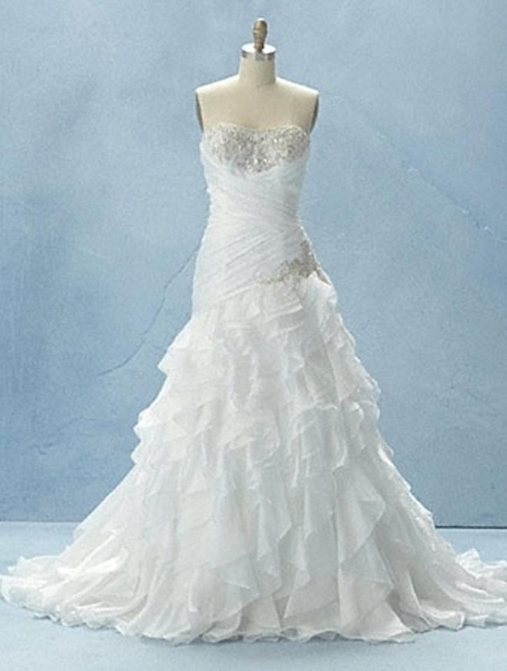 Alfred Angelo Ivory Organza Disney Princess Jasmine Style 215 Formal ...
