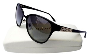 Versace Versace Metal Women's Black Sunglasses With Crystals