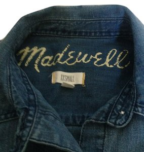 Madewell Chambray Chambray Button Down Shirt Blue Denim