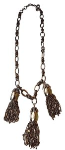 J.Crew J.Crew Brushed Gold Tassel Necklace