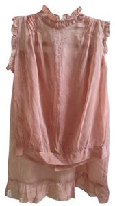 Free People Free People sheer rose skirt and blouse set, size S