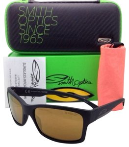 Smith Optics Polarized SMITH OPTICS Sunglasses DOLEN Matte Black Frame w/ CHROMAPOP Bronze Mirror Lenses