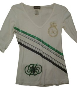 Fabulosity Top White Black Gold Green