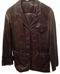 Aprile & Aprile Dark Brown Leather Jacket