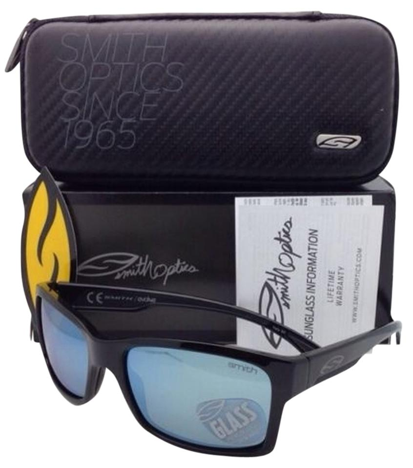 59f933a0082de Smith Optics New Polarized SMITH OPTICS Sunglasses DOLEN Black Frame with  Blue Mirror Lenses Image 0 ...